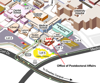 Map to the Office of Postdoctoral Affairs.